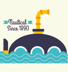 nautical maritime design vector image