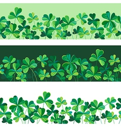 pattern clover borders set vector image