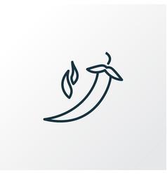 pepper icon line symbol premium quality isolated vector image
