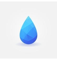 Polygonal water drop logo vector image