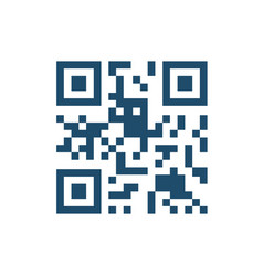 qr code related icon vector image