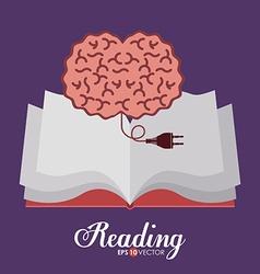 Reading design vector