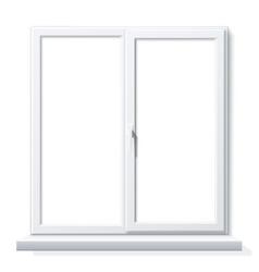 Realistic pvc window white blank mockup vector