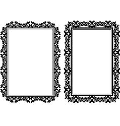 rectangular frames vector image