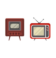 retro television set analogue old obsolete tv vector image