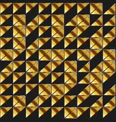retro triangle seamless pattern with gold effect vector image