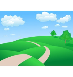 Rolling hills background vector