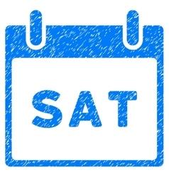 Saturday Calendar Page Grainy Texture Icon vector