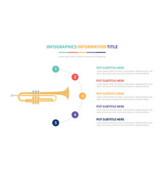 saxophone infographic template concept with five vector image