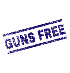 Scratched textured guns free stamp seal vector