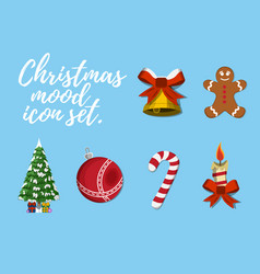 Set of christmas mood vector