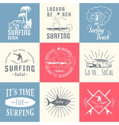 Set Surf Badges Sign and Logos vector