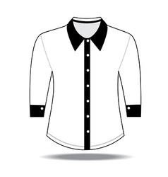 Shirt with long sleeves vector image