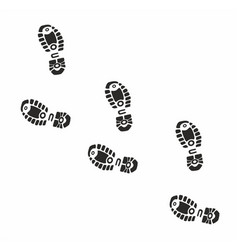 shoe footprints on white background vector image