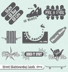 Skateboarding Labels vector image