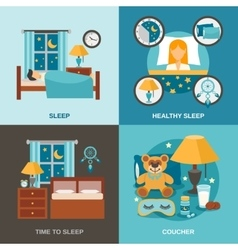 Sleep Time Flat vector image