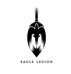 Spartan warrior head with eagle vector