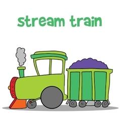 Steam train cartoon art vector