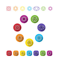 Symbol set chakras vector