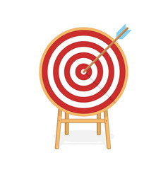 target with arrow in center vector image