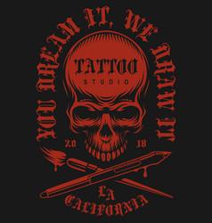 Tattoo vintage emblem vector