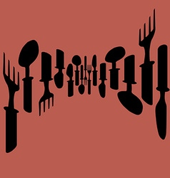 Template for menu card Cutlery Menu with cutlery vector image