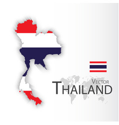 thailand flag and map vector image