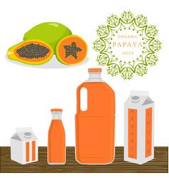 The theme papaya vector
