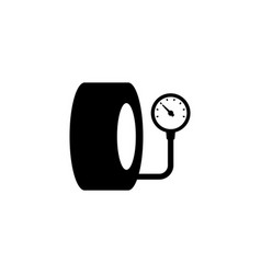 tire pressure gauge icon vector image