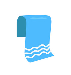 Towel for beach isolated cartoon emblem vector