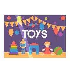 Toy shop facade vector