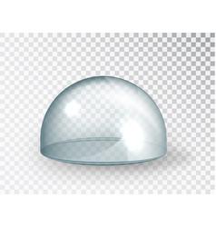 Transparent glass cover hemisphere mock-up vector