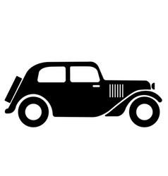 vintage car symbol classic vintage car icon vector image