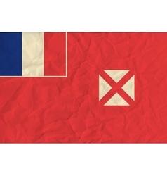 Wallis and Futuna paper flag vector image