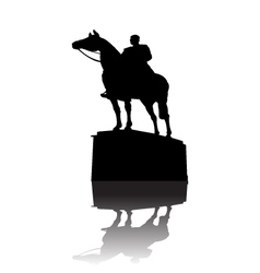 Warrior on horse monument vector