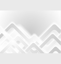 white grey smooth stripes abstract background vector image