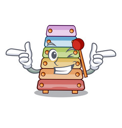 Wink toy xylophone on cartoon childrens instrument vector