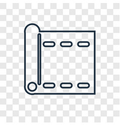 yoga mat concept linear icon isolated on vector image