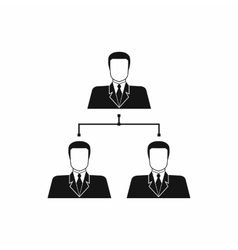 Company structure icon simple style vector image vector image