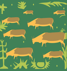 cows in the meadow vector image vector image