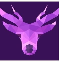 Deer polygons horned animal head logo vector