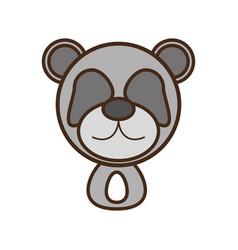 face panda cartoon animal vector image
