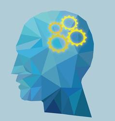 Gear Head Concept vector image