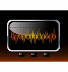 soundwaves vector image