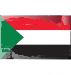 sudan national flag vector image vector image