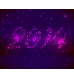 2014 pink background vector image vector image