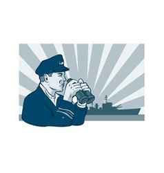 Captain Binoculars vector image vector image