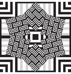 Ethnic black and white seamless pattern vector image vector image