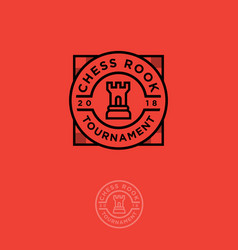 logo chess emblem tournament vector image vector image