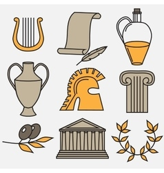 Travel Greek Culture Landmarks and cultural vector image vector image